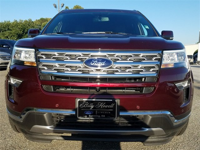 2018 Burgundy Velvet Metallic Tinted Clearcoat Ford Explorer Limited Automatic SUV 4 Door 3.5L V6 Ti-VCT Engine FWD