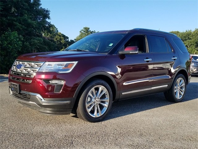 2018 Burgundy Velvet Metallic Tinted Clearcoat Ford Explorer Limited Automatic 4 Door FWD 3.5L V6 Ti-VCT Engine