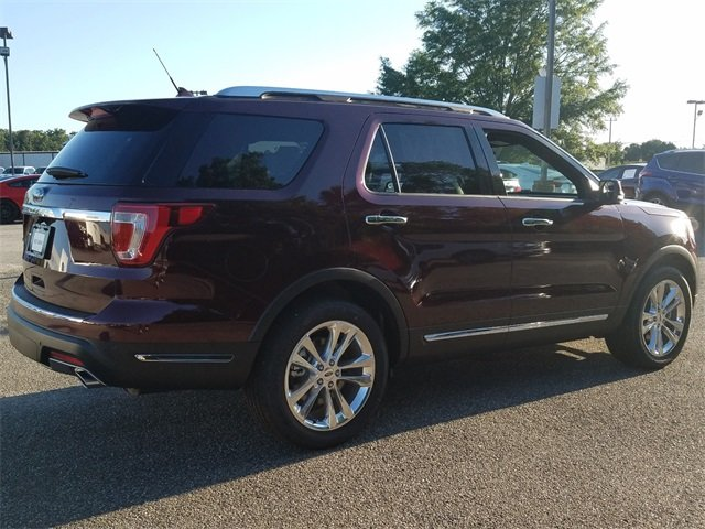 2018 Burgundy Velvet Metallic Tinted Clearcoat Ford Explorer Limited SUV 4 Door 3.5L V6 Ti-VCT Engine