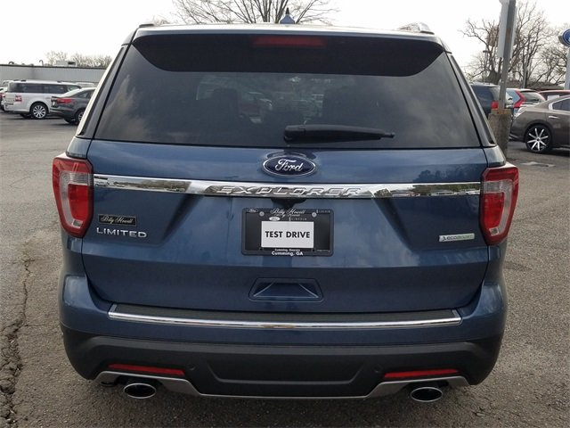 2018 Blue Metallic Ford Explorer Limited 2.3L I-4 EcoBoost Engine SUV FWD