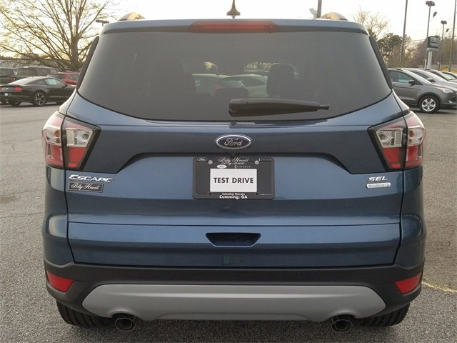 2018 Blue Metallic Ford Escape SEL FWD EcoBoost 1.5L I4 GTDi DOHC Turbocharged VCT Engine 4 Door Automatic