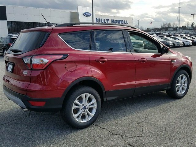 2018 Ruby Red Metallic Tinted Clearcoat Ford Escape SEL EcoBoost 1.5L I4 GTDi DOHC Turbocharged VCT Engine 4 Door SUV