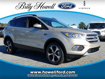 2018 White Gold Metallic Ford Escape SEL 4X4 4 Door SUV EcoBoost 1.5L I4 GTDi DOHC Turbocharged VCT Engine Automatic
