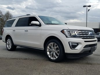 2018 White Platinum Metallic Tri-Coat Ford Expedition Limited 3.5L EcoBoost V6 Engine with Auto Start-Stop Technology RWD 4 Door SUV