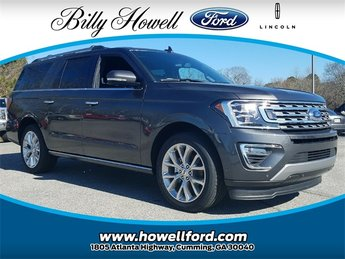2018 Ford Expedition Max Limited 4 Door SUV EcoBoost 3.5L V6 GTDi DOHC 24V Twin Turbocharged Engine Automatic