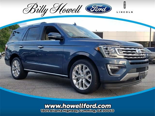2018 Blue Metallic Ford Expedition Limited 4 Door RWD SUV EcoBoost 3.5L V6 GTDi DOHC 24V Twin Turbocharged Engine