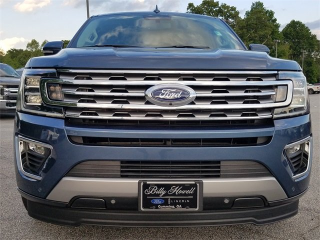 2018 Blue Metallic Ford Expedition Limited RWD Automatic 4 Door SUV EcoBoost 3.5L V6 GTDi DOHC 24V Twin Turbocharged Engine