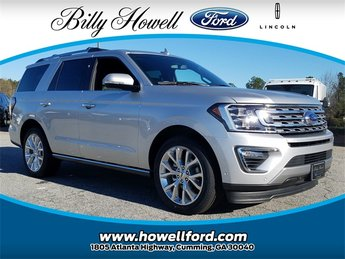 2018 Ingot Silver Metallic Ford Expedition Limited RWD Automatic 4 Door SUV 3.5L EcoBoost V6 Engine with Auto Start-Stop Technology