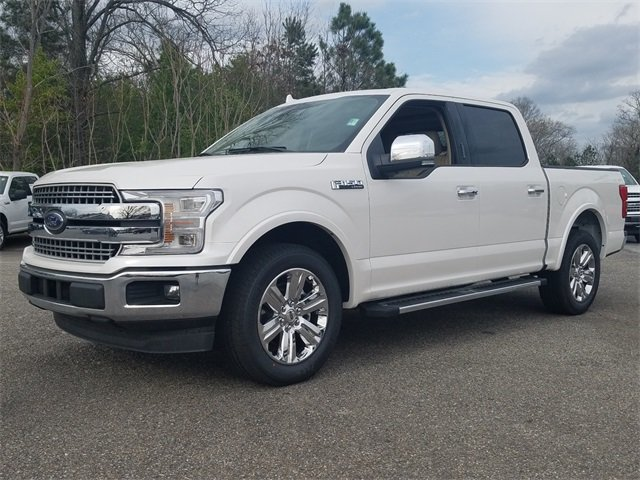 2018 White Platinum Metallic Tri-Coat Ford F-150 Lariat RWD Automatic 3.5L EcoBoost V6 engine with Auto Start/Stop Technology