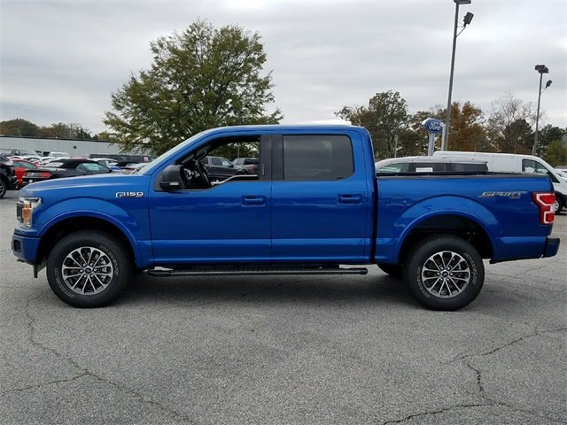 2018 Lightning Blue Ford F-150 XLT Truck 5.0L Ti-VCT V8 engine with Auto Start/Stop Technology 4 Door Automatic