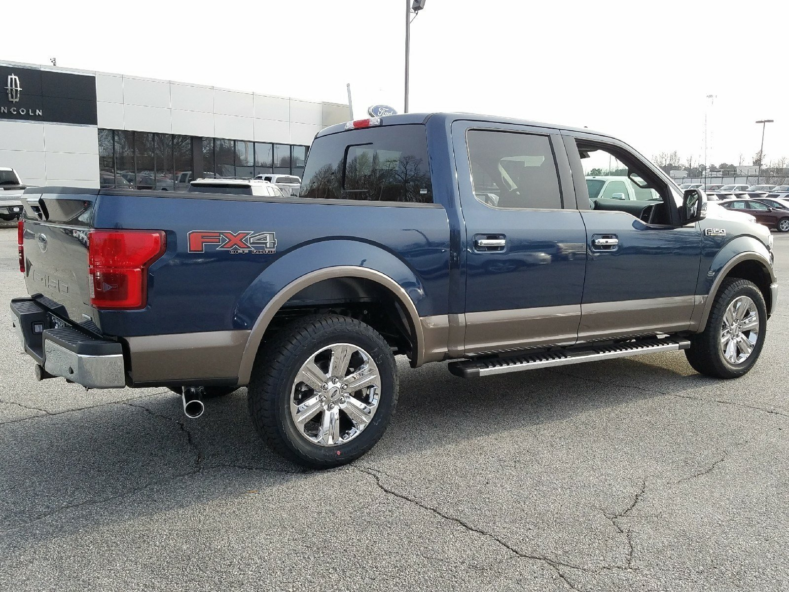 2018 Blue Jeans Ford F-150 Lariat 4 Door Truck 3.5L EcoBoost V6 engine with Auto Start/Stop Technology 4X4