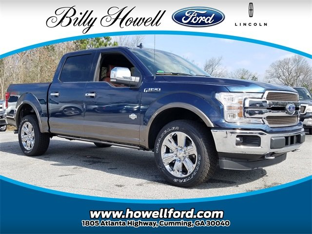 2018 Blue Jeans Metallic Ford F-150 King Ranch EcoBoost 3.5L V6 GTDi DOHC 24V Twin Turbocharged Engine Truck 4X4 Automatic