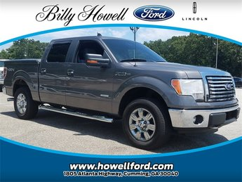 2012 Sterling Gray Metallic Ford F-150 XLT 4 Door Truck 4X4 Automatic EcoBoost 3.5L V6 GTDi DOHC 24V Twin Turbocharged Engine