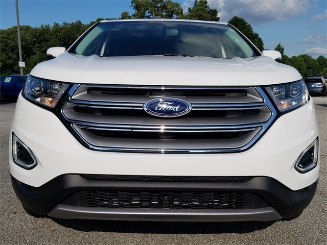 2018 Oxford White Ford Edge SEL 4 Door Automatic EcoBoost 2.0L I4 GTDi DOHC Turbocharged VCT Engine SUV FWD