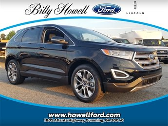 2018 Shadow Black Ford Edge Titanium SUV 3.5L V6 Ti-VCT Engine Automatic 4 Door FWD
