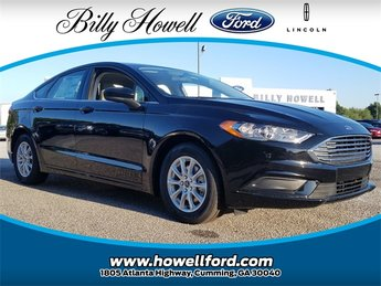 2018 Shadow Black Ford Fusion S Automatic 4 Door FWD I4 Engine Sedan