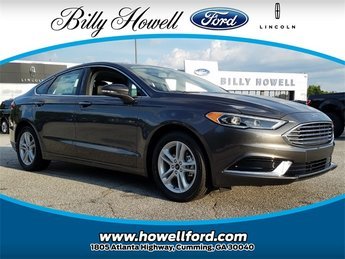 2018 Magnetic Metallic Ford Fusion SE EcoBoost 1.5L I4 GTDi DOHC Turbocharged VCT Engine FWD Sedan