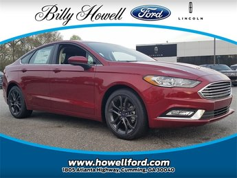 2018 Ruby Red Metallic Tinted Clearcoat Ford Fusion SE Sedan 4 Door Automatic EcoBoost 1.5L I4 GTDi DOHC Turbocharged VCT Engine FWD