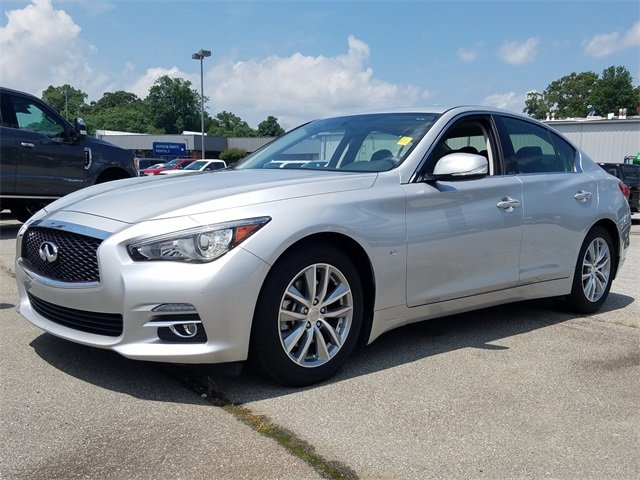 2015 Liquid Platinum Infiniti Q50 Base Sedan RWD 4 Door 3.7L V6 DOHC 24V Engine