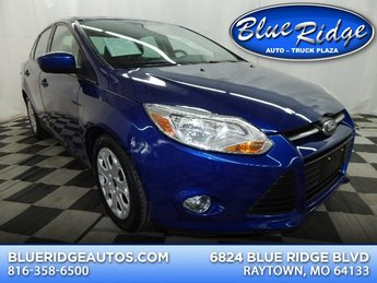 2012 Sonic Blue Metallic Ford Focus SE 2.0L 4 cyls Engine Automatic FWD Sedan