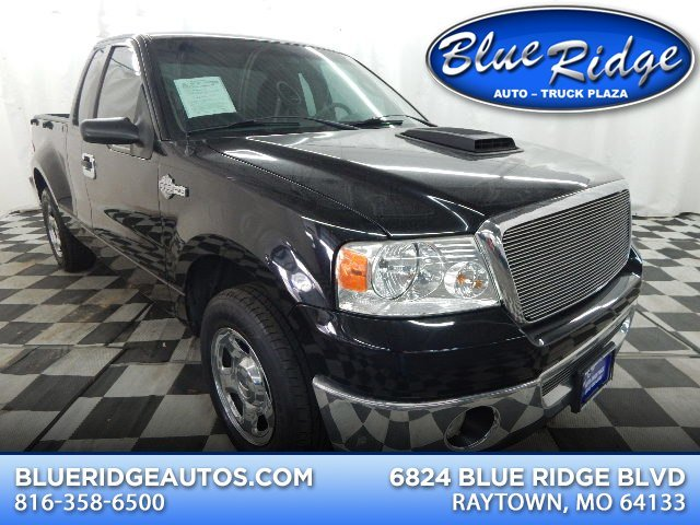 2007 Black Clearcoat Ford F-150 XLT 5.4L V8 Engine RWD 2 Door Automatic