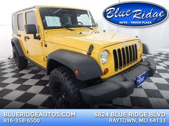 2008 Detonator Yellow Clearcoat/Black Hard Top Jeep Wrangler Unlimited X 4X4 4 Door Manual