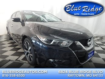 2017 Deep Blue Pearl Nissan Maxima 3.5 SV 4 Door Sedan Automatic (CVT) FWD 3.5L V6 Engine