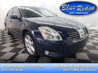 2004 Majestic Blue Metallic Nissan Maxima SE Sedan 4 Door 3.5L V6 Engine Automatic