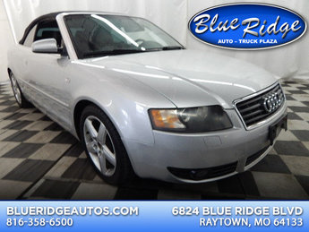 2005 Light Silver Metallic/Black Roof Audi A4 1.8T FWD 1.8L 4 cyls Engine 2 Door Convertible