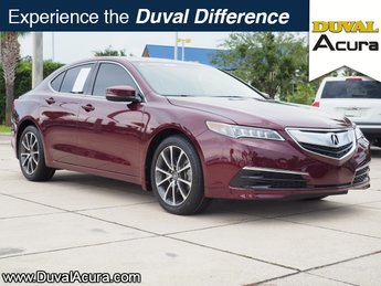 2015 Basque Red Pearl II Acura TLX V6 Automatic 4 Door Sedan