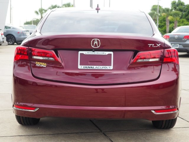 2015 Basque Red Pearl II Acura TLX V6 4 Door Automatic FWD