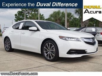 2015 Bellanova White Pearl Acura TLX V6 Tech 3.5L V6 SOHC VTEC 24V Engine 4 Door Automatic FWD