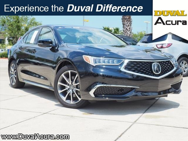 2018 Crystal Black Pearl Acura TLX V6 w/Technology Pkg 3.5L V6 SOHC VTEC 24V Engine FWD Automatic 4 Door Sedan