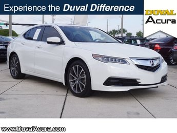 2015 Bellanova White Pearl Acura TLX V6 Tech Automatic 4 Door Sedan 3.5L V6 SOHC VTEC 24V Engine