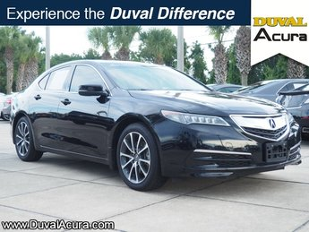 2015 Crystal Black Pearl Acura TLX V6 Tech Sedan 4 Door Automatic FWD