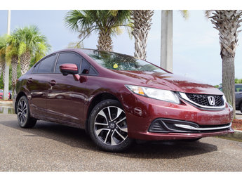 2014 Crimson Red Pearl Honda Civic EX 4 Door Automatic (CVT) 1.8L I4 SOHC 16V i-VTEC Engine Sedan FWD