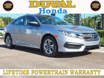 2018 Lunar Silver Metallic Honda Civic LX FWD 4 Door 2.0L I4 DOHC 16V i-VTEC Engine