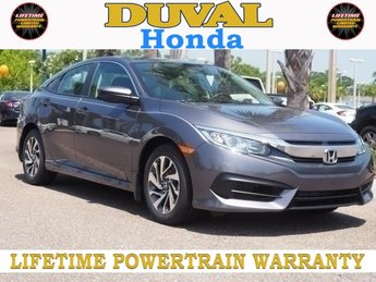 2018 Honda Civic EX FWD Automatic (CVT) 4 Door Sedan 2.0L I4 DOHC 16V i-VTEC Engine
