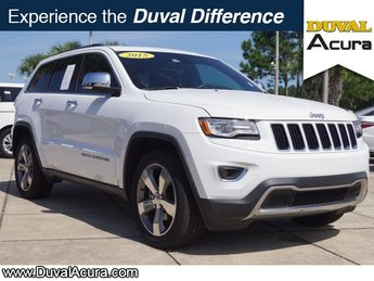 2015 Bright White Clearcoat Jeep Grand Cherokee Limited RWD 4 Door SUV 3.6L V6 24V VVT Engine