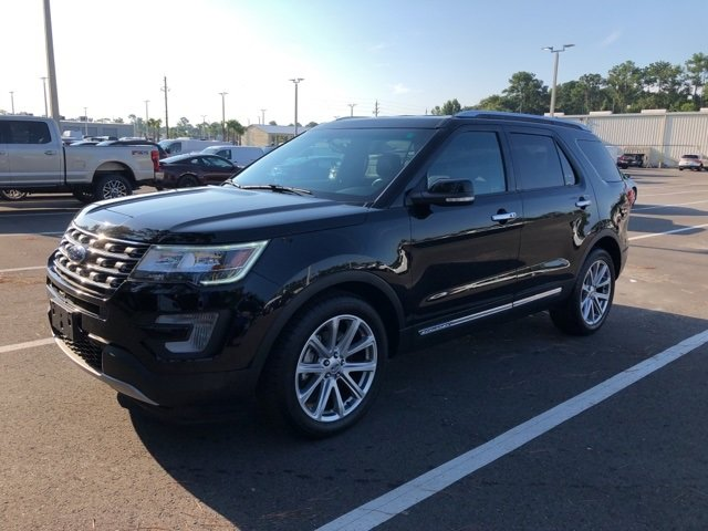 2017 Shadow Black Ford Explorer Limited 3.5L 6-Cylinder SMPI Turbocharged DOHC Engine 4 Door FWD Automatic SUV