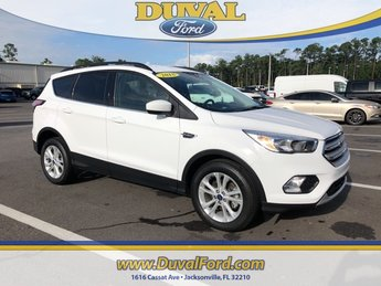 2018 Oxford White Ford Escape SE FWD 4 Door SUV EcoBoost 1.5L I4 GTDi DOHC Turbocharged VCT Engine