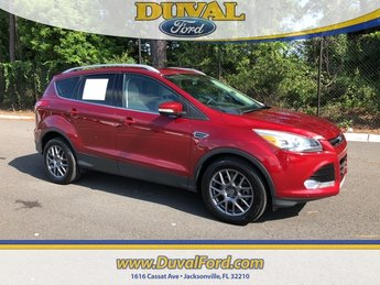 2014 Ruby Red Tinted Clearcoat Ford Escape Titanium EcoBoost 2.0L I4 GTDi DOHC Turbocharged VCT Engine Automatic 4 Door FWD SUV
