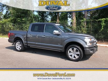 2016 Magnetic Metallic Ford F-150 Platinum Automatic Truck 4 Door EcoBoost 3.5L V6 GTDi DOHC 24V Twin Turbocharged Engine