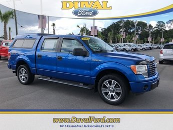 2014 Blue Flame Metallic Ford F-150 STX Truck 5.0L V8 FFV Engine 4 Door Automatic