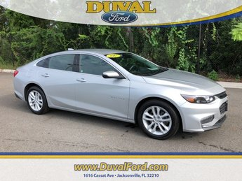 2017 Silver Ice Metallic Chevrolet Malibu LT Sedan 1.5L DOHC Engine 4 Door Automatic FWD