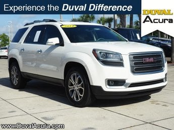 2014 Summit White GMC Acadia SLT Automatic 3.6L V6 SIDI Engine FWD 4 Door SUV