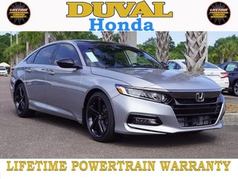2018 Lunar Silver Metallic Honda Accord Sport FWD Manual I4 DOHC 16V Turbocharged Engine