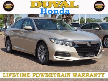 2018 Honda Accord LX 4 Door Sedan I4 DOHC 16V Turbocharged Engine