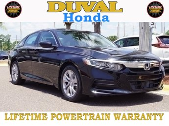 2018 Crystal Black Pearl Honda Accord LX 4 Door I4 DOHC 16V Turbocharged Engine Sedan