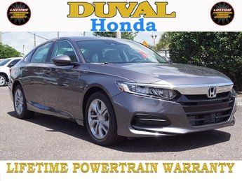 2018 Modern Steel Metallic Honda Accord LX FWD I4 DOHC 16V Turbocharged Engine Sedan 4 Door